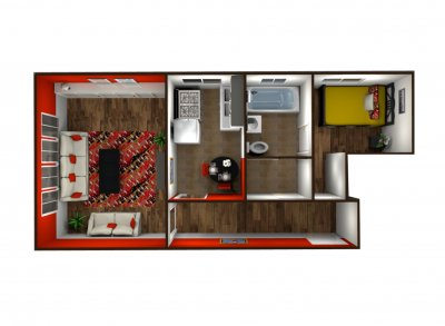 The New Yorker 1 Bedroom Bakersfield 0