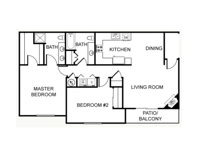 Chestnut Court Two Bedrooms Fresno 0