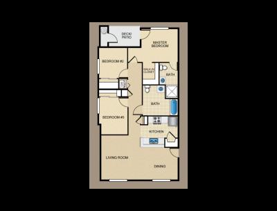Parc Grove Commons H Building 3 Bed 2 Bath Fresno 0