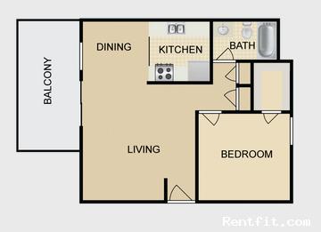 Dayton Square Apartments 1 Bedroom Fresno 0