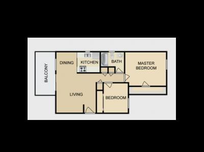 Dayton Square Apartments 2 Bedroom Fresno 0
