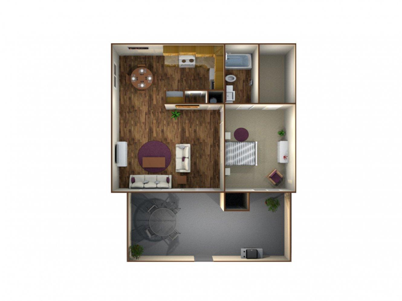 Monterey Pines Apartment Homes 1 Bedroom Fresno 0