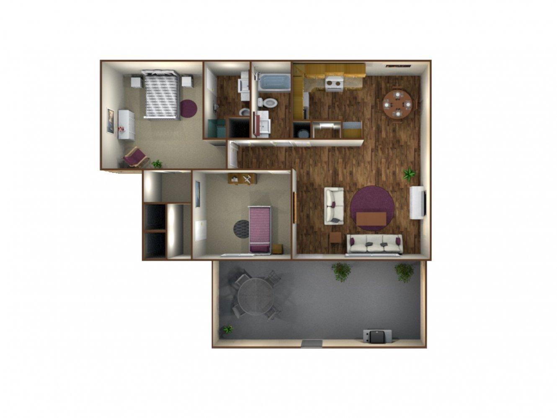 Monterey Pines Apartment Homes 2 Bedroom - 2 Bath Fresno 0