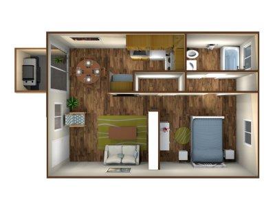 Sunburst Apartments Studio Fresno 0