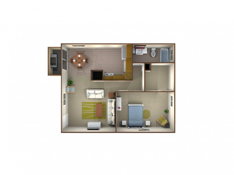 Sunburst Apartments 1 Bedroom 1 Bath Fresno 0