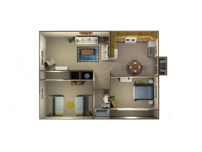 Sunburst Apartments 2 Bedroom 1 Bath Fresno 0