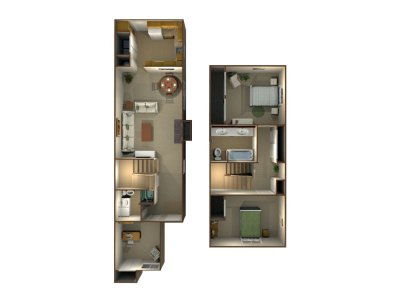 Willow Park Apartments 3 Bedroom Townhome - Plan A Fresno 0