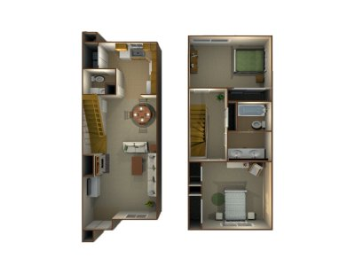 Willow Park Apartments 2 Bedroom Townhome - Plan C Fresno 0