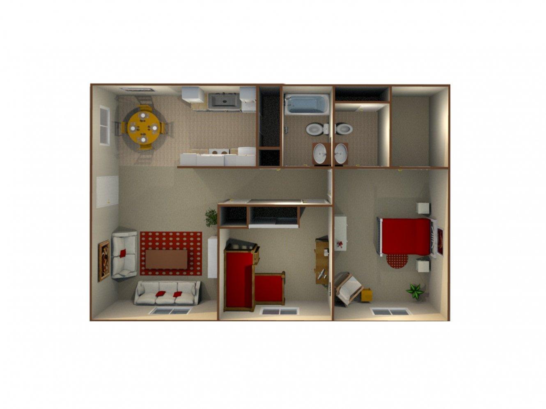 Pacific Grove Apartments 2 Bedroom 1.5 Bath Clovis 0