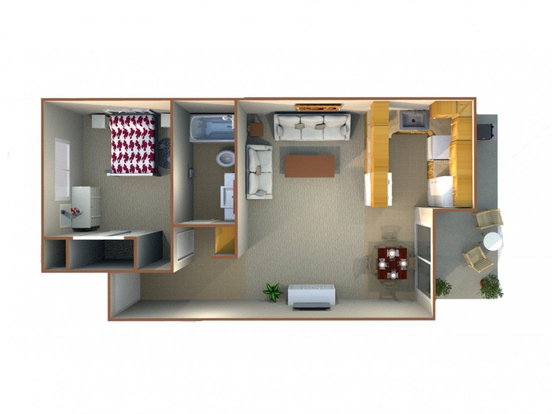 Redwood Glen Apartment Homes 1 Bedroom 1 Bath Bakersfield 0
