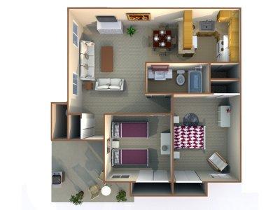 Redwood Glen Apartment Homes 2 Bedroom 1 Bath Bakersfield 0