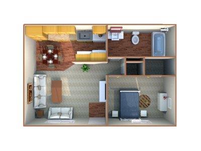 Sierra Terrace East Apartment 1 Bedroom Bakersfield 0