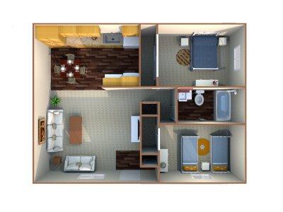 Sierra Terrace East Apartment 2 Bedroom Bakersfield 0