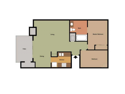 The Laurel Tree Apartments 2 Bedroom 1.5 Bath Large Bakersfield 0