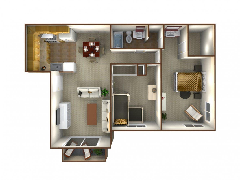 Northridge Apartments 2 Bedroom - 1.25 Bath Bakersfield 0