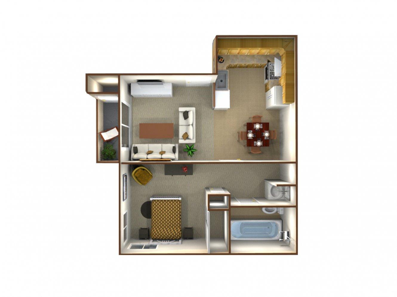 Northridge Apartments 1 Bedroom - Plan B Bakersfield 0
