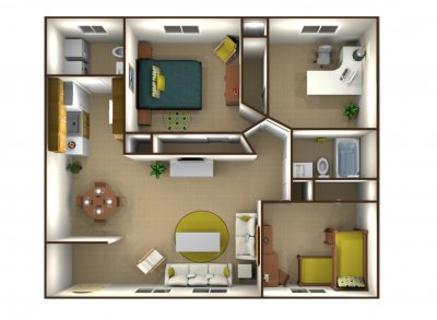 Casa Grande Apartments 3 Bedroom Fresno 0