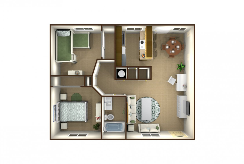Floradora Palms Apartments 2 Bedrooms Fresno 0