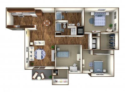 The Boardwalk Luxury Apartments 3 Bedroom Bakersfield 0