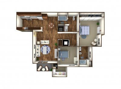 The Boardwalk Luxury Apartments 2 Bedroom Bakersfield 0