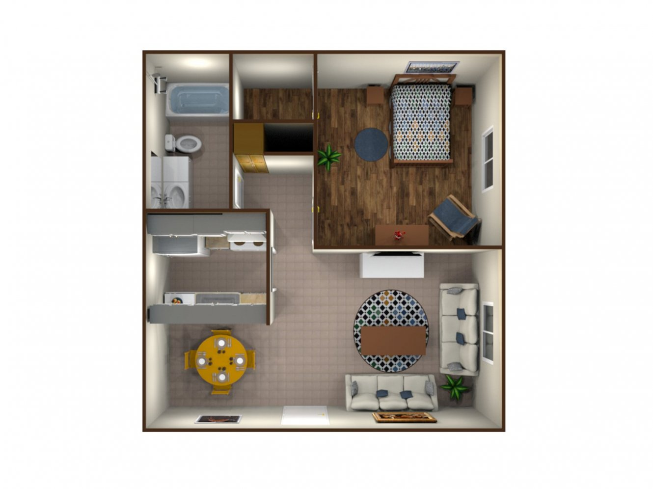 West Chester Place Apartments One Bedroom Bakersfield 0