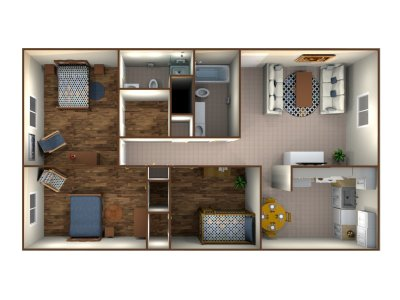 West Chester Place Apartments Three Bedroom Bakersfield 0