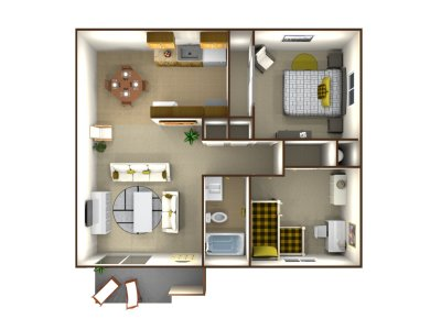 Parkway Village 2 Bedroom Fresno 0